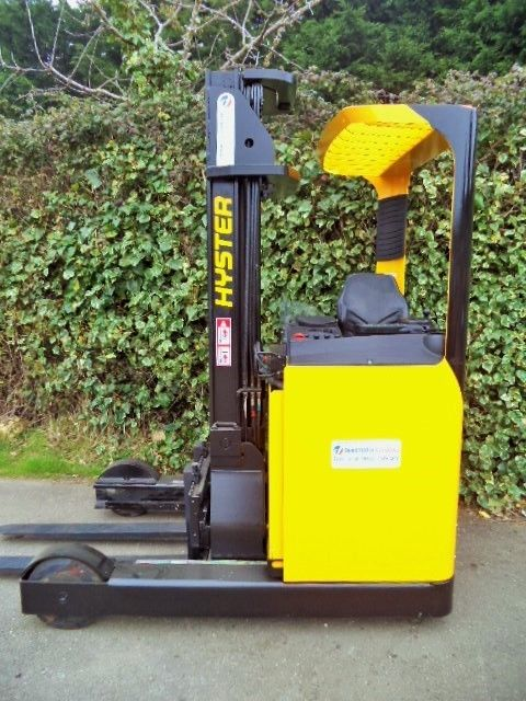 Hyster reach truck, in excellent condition complete with charger.